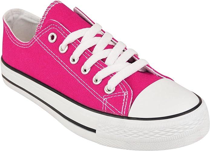 Inspire Me Women Canvas Shoes Gym Sports Trainers Lightweight Comfortable Canvas Shoes Plimsoll Trainer Pumps Ladies Lace up Flat Shoes
