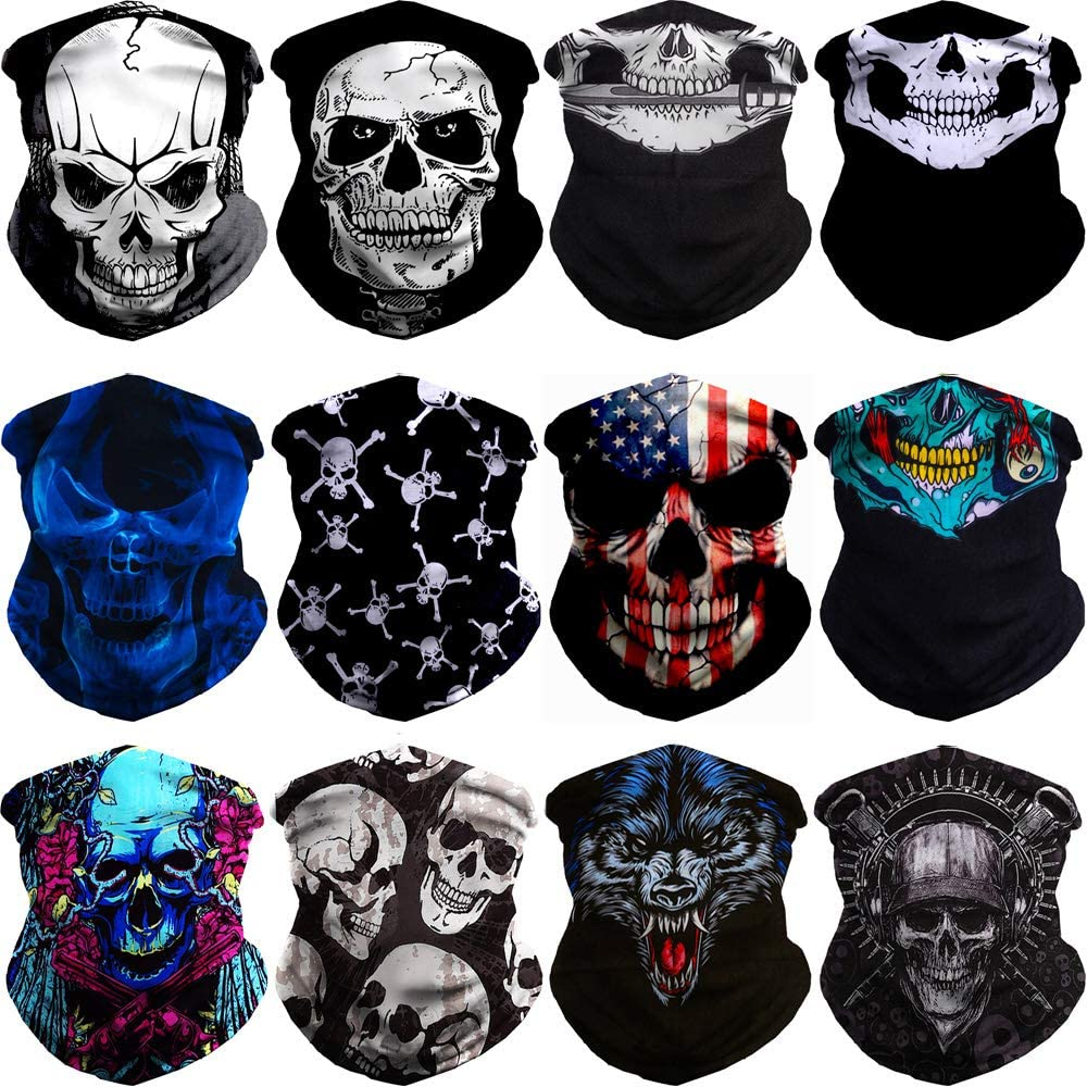 nobrand Fashion Face Scarf Bandanas Casual Headwear Seamless Neck Gaiter Headwrap Balaclava Helmet Liner Cover Bandanas for Dust Outdoors Festivals Sports
