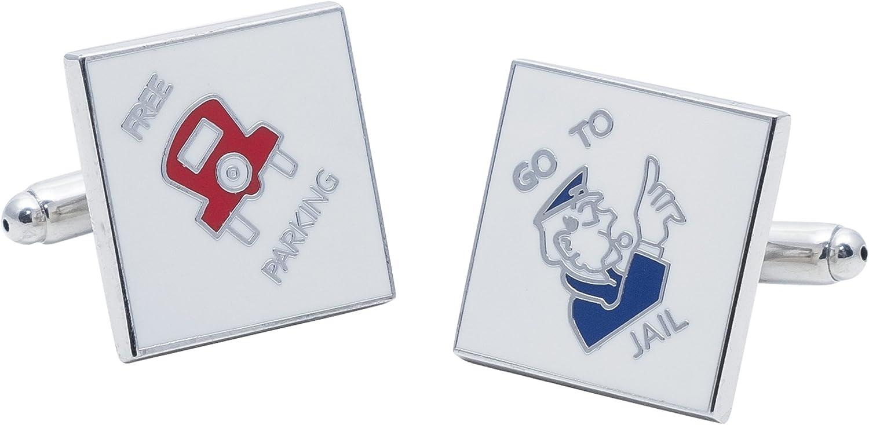 Monopoly gemelos – Ir a la cárcel y libre estacionamiento con caja de regalo: Amazon.es: Joyería