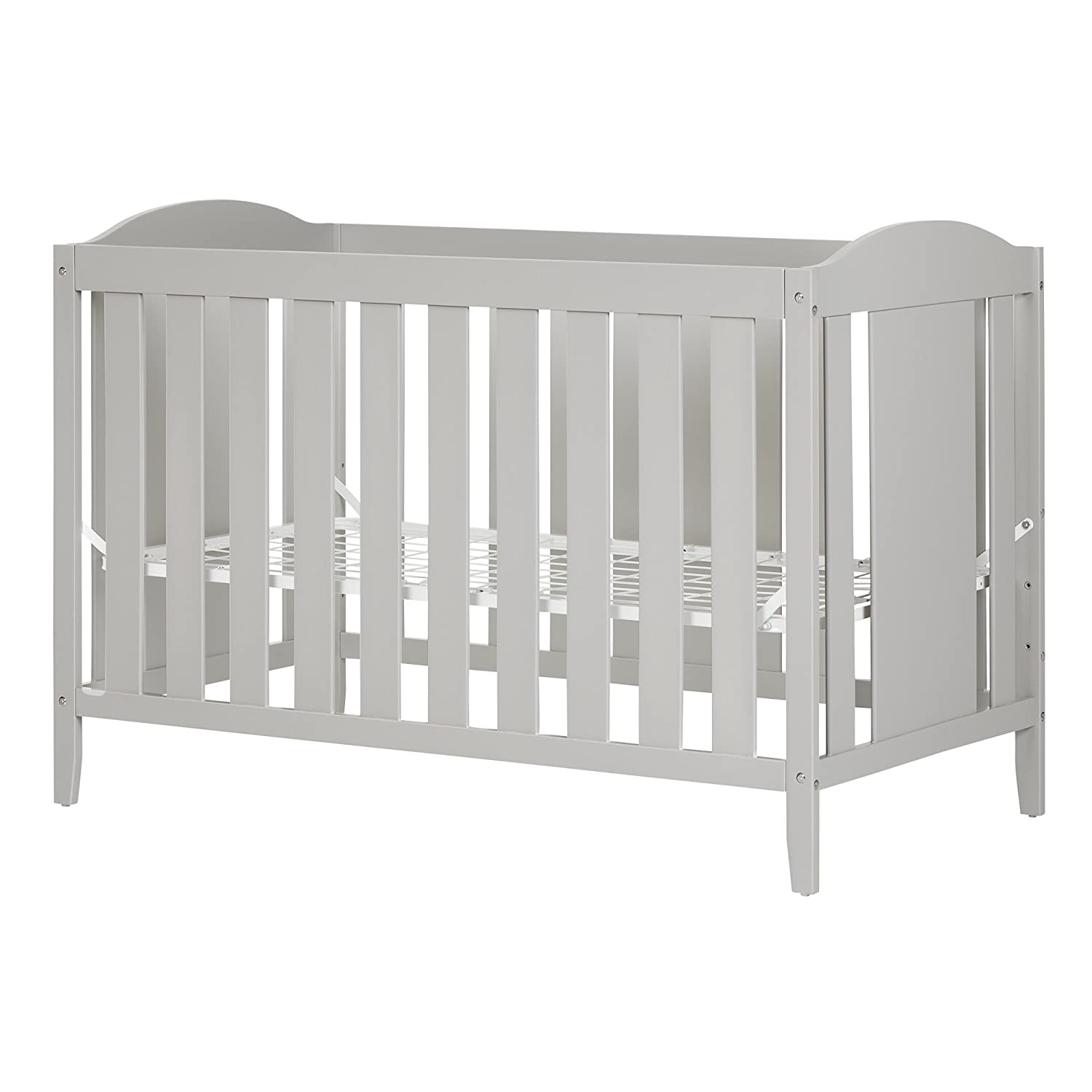 South Shore Furniture Cookie Crib and Toddler's Bed, Soft Gray 10719