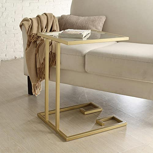 Carolina Cottage Royce Accent Table in Gold