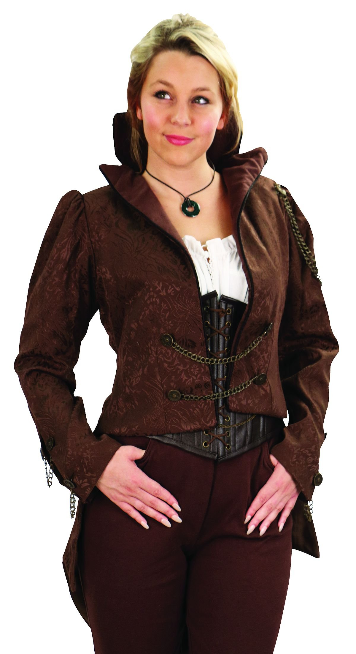 Museum Replicas Ladies Steampunk German Airship Tailcoat Jacket With Chains (X Large) by Museum Replicas