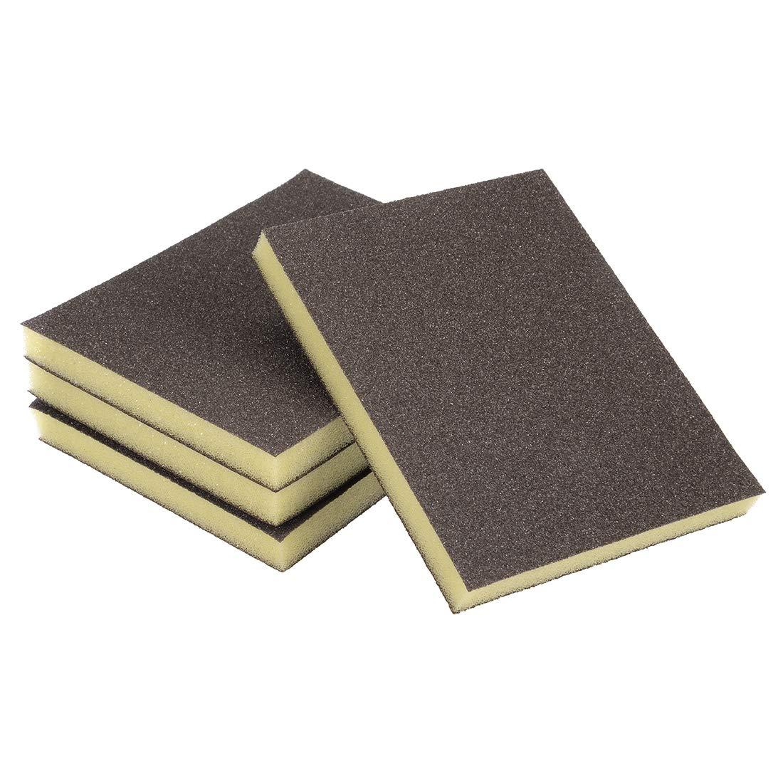 Esponja de lija Sourcingmap grano grueso 100 Grit bloque de lija Pad 4.72 x 3.86 x 0.47 Tama/ño 8 piezas