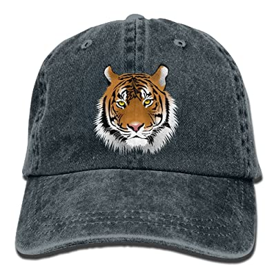 Men Women Tiger Face Adjustable Jeans Baseball Cap Trucker Hat