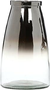 "Hosley Silver Glass Flower Vase 10.25 Inch High Ideal Gift for Weddings Bridal Spa Meditation Reiki Rose Vase Nautical Settings Storage P1 (10.25"" High)"