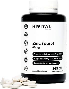 Zinc puro 40 mg procedente de Gluconato de Zinc | 365 comprimidos ...