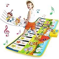 BelleStyle Alfombra de Piano, Alfombra Musical para Bebé, Estera de Piano Musical con 8 Instrumentos 10 Teclas de Piano…