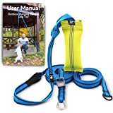 Outdoor Hanging Bungee Dog Toy - Durable Spring Pole for Pitbull & Medium to Large Dogs - Interactive Tugger for Safe…
