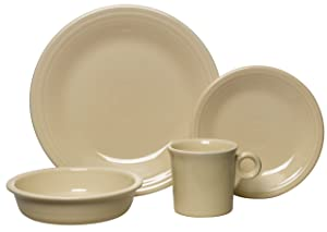 Fiesta 4-Piece Dinnerware Place Setting, Ivory