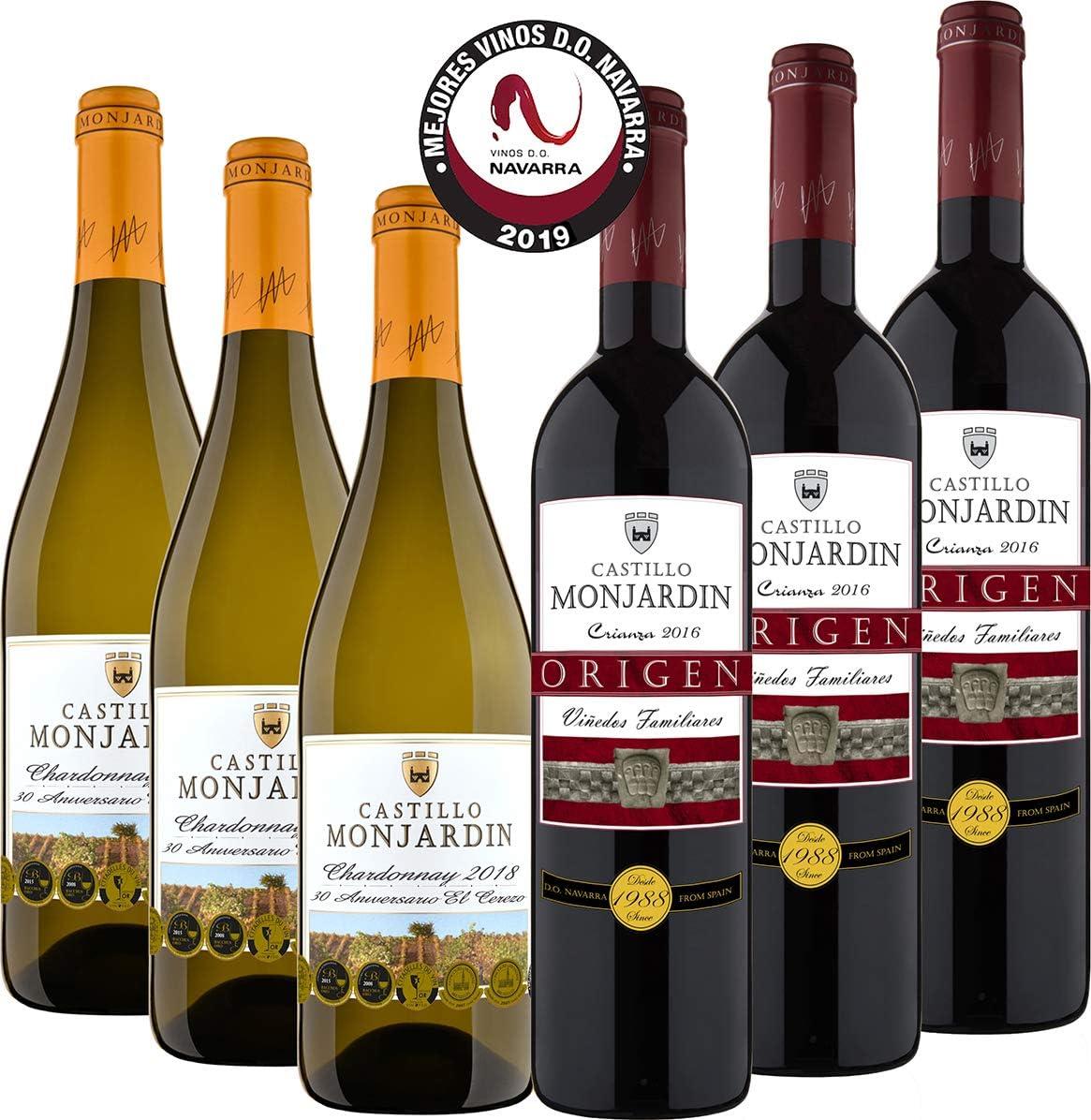 Castillo Monjardín - Colección Mejores Vinos D.O. Navarra 2019 - Colección 6 bot.: Amazon.es: Alimentación y bebidas