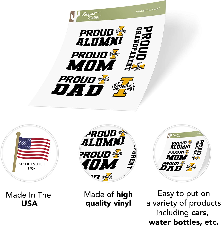 University of Idaho Vandals NCAA Sticker Vinyl Decal Laptop Water Bottle Car Scrapbook Family Full Sheet