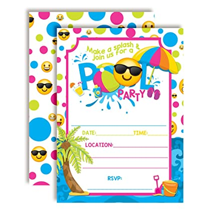 Amazon.com: AmandaCreation - Invitaciones para fiesta de ...