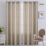NANAN Trellis Window Curtain Valance, Poly Linen