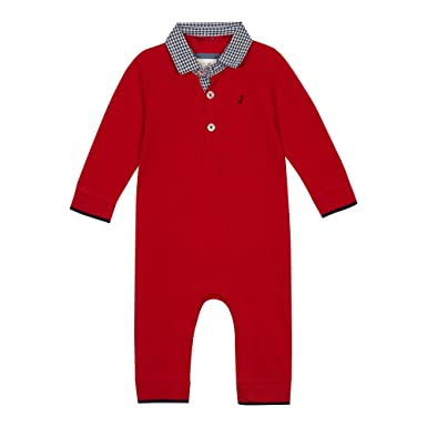 7f45b6b2f4cf J by Jasper Conran JCB C1 Gingham Ls Romper Red  J by Jasper Conran   Amazon.co.uk  Clothing