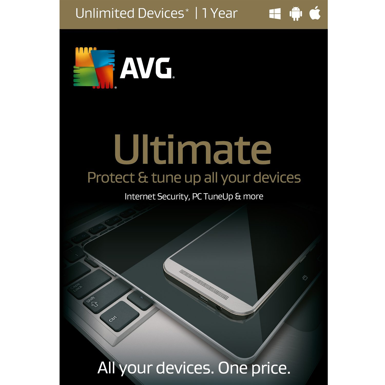 AVG Ultimate,  UNLIMITED devices  1 Year [Download]