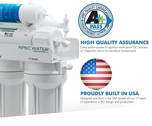 APEC Water Systems ROES-PH75 Top Tier, Built in USA, Ultra Safe, pH Alkaline Calcium Mineral