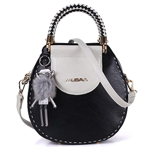 588cce483d1d MUSSA Vintage Unique PU Leather Handbags Black Size: Medium: Amazon ...