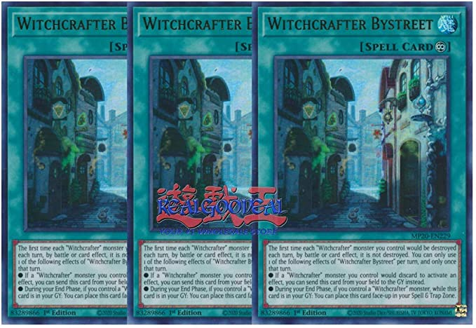MP20-EN227 YuGiOh Rare 1st Edition Witchcrafter Collaboration x3