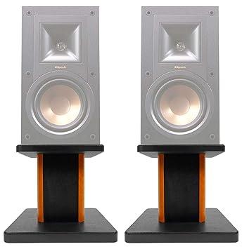 """ROCKVILLE (2) 8"""" Wood Bookshelf Speaker Stands for Klipsch R-15PM Bookshelf  Speakers"""