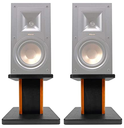 ROCKVILLE 2 8 Wood Bookshelf Speaker Stands for Klipsch R-15PM Bookshelf Speakers