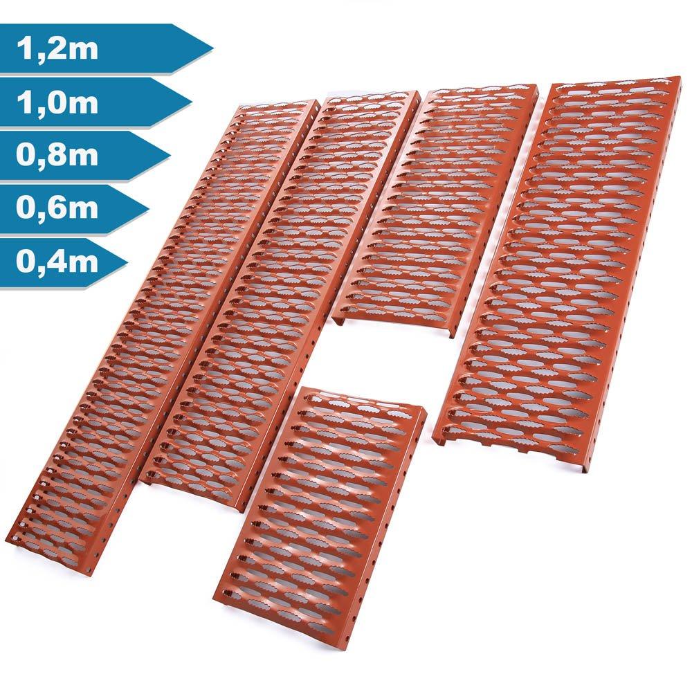 Ziegelrot 4x Farben Dachtritt 120 cm Steigtritt Komplett f/ür Dachziegel und Dachpfanne zum Einh/ängen