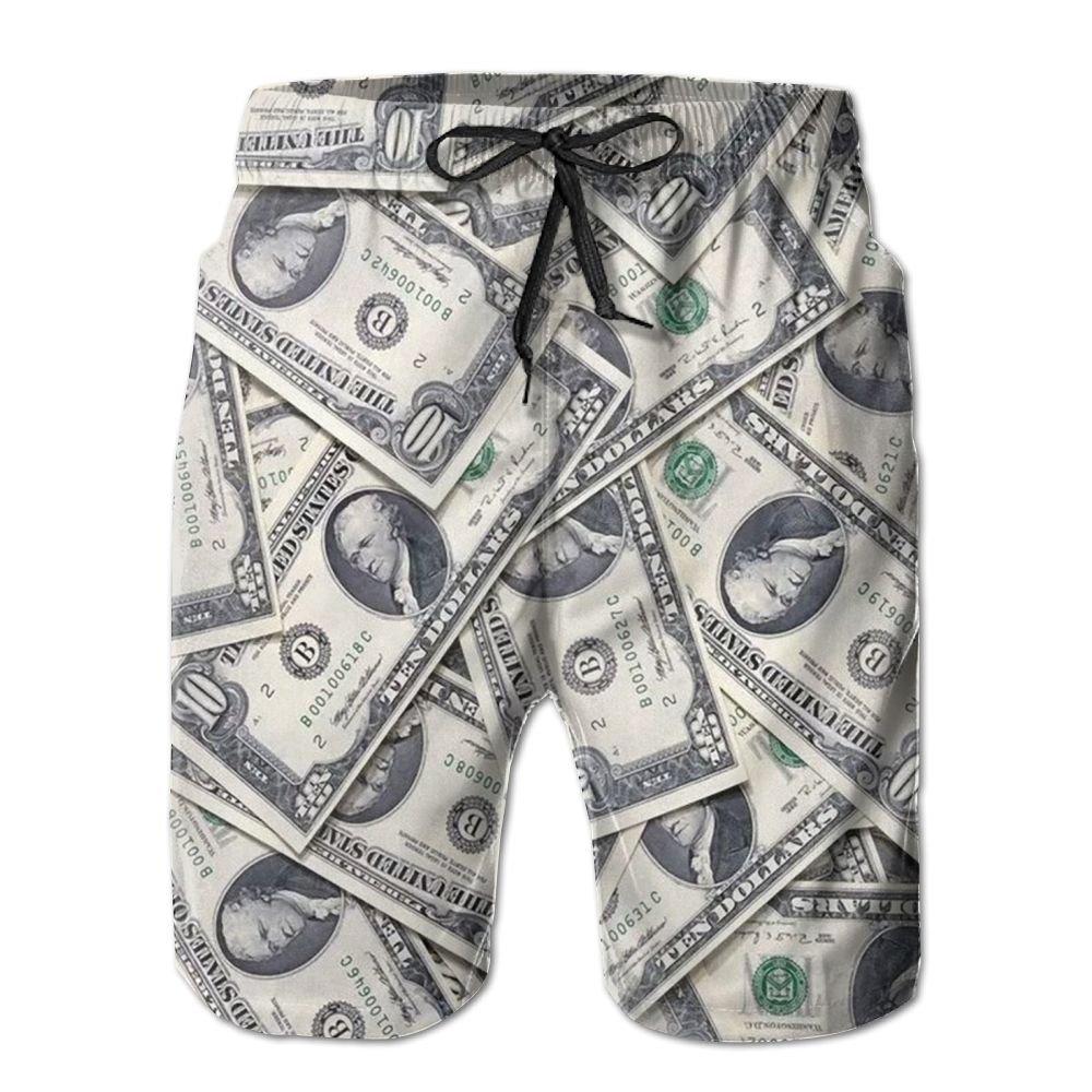 10fbfb89c7 Amazon.com: Fun Money Mens Quick Dry Swim Trunks Beach Shorts: Clothing
