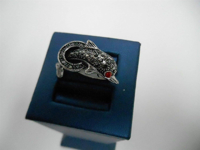 Crystal Rhinestone Dolphin Ring Size 7 KDJ-520
