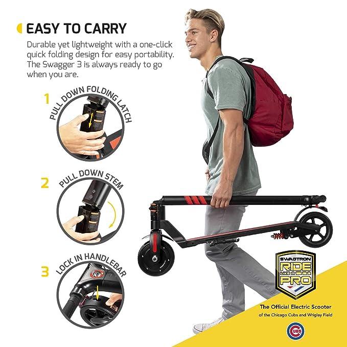 Amazon.com: Swagger Pro Scooter eléctrico plegable con ...