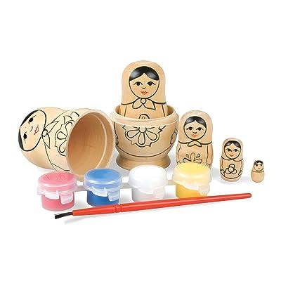 Tobar Paint Your Own Muñecas Rusas: Juguetes y juegos