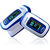 Pulse Oximeter - Finger - TempIR Handheld Portable - Digital Blood Oxygen and Pulse Sensor Meter with Alarm -Home and Professional - Fast Readings From the Finger-fingertip - For Adults, Children, Perfect for Sports Use - Quality Design - Best Value - Full No Hassle Money Back Guarantee.