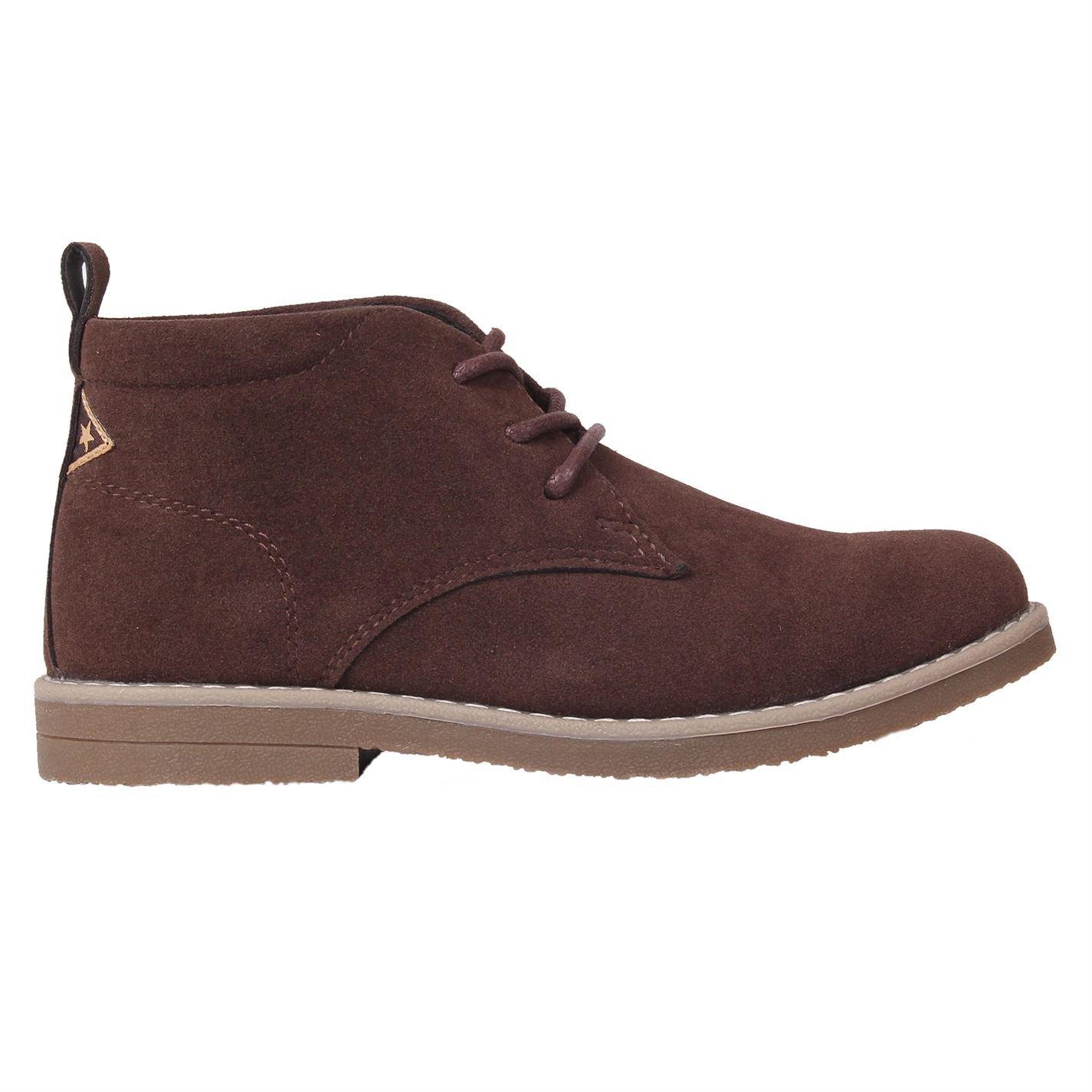 Soviet Kids Boys Desert Child Boots Lace Up Comfortable Fit Tonal Stitching Brown UK C11 (29)
