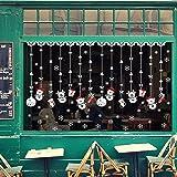 Kingko® Christmas Scene Window Wall Stickers for Living Room Cafe...