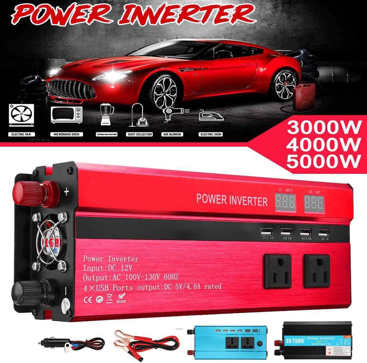 GW Car Power Inverter, 3000-10000W USB DC12 / 24V para AC110V / 220V Onda sinusoidal convertidor de Voltaje del Transformador Cargador Solar Inversor