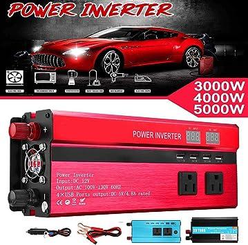 3000-5000W Car Solar Power Inverter DC12//24V To AC110V//220V Sine Wave Converter