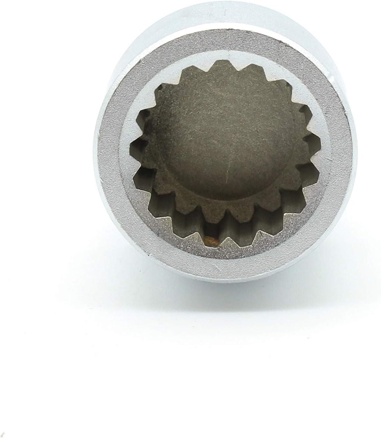 TEMO #58 Anti-Theft Wheel Lug Nut Removal Socket Key 3437 for Porsche