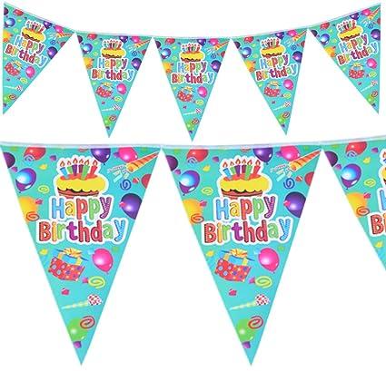 Amazon.com: Pancarta de feliz suministros para fiesta de ...