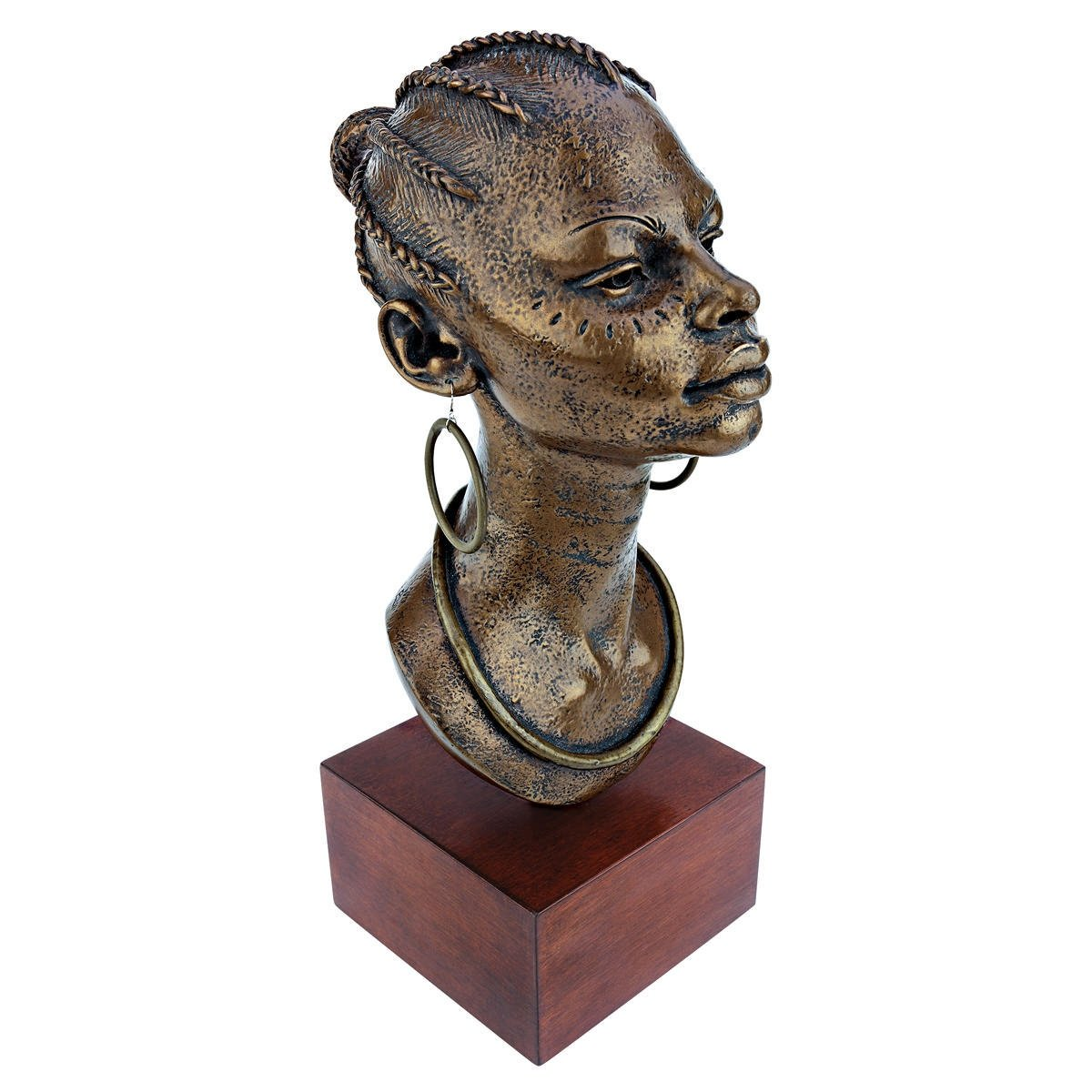 Design Toscano African Negresse Princess Bust Statue, Bronze by Design Toscano