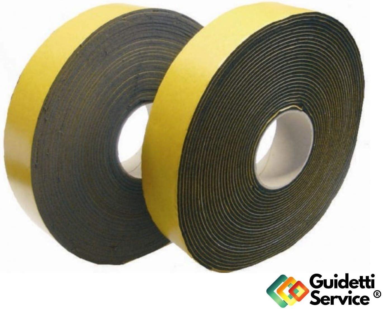 Guidetti Service/® Noir Joint adh/ésif rouleau de 10/m en n/éopr/ène 3/mm