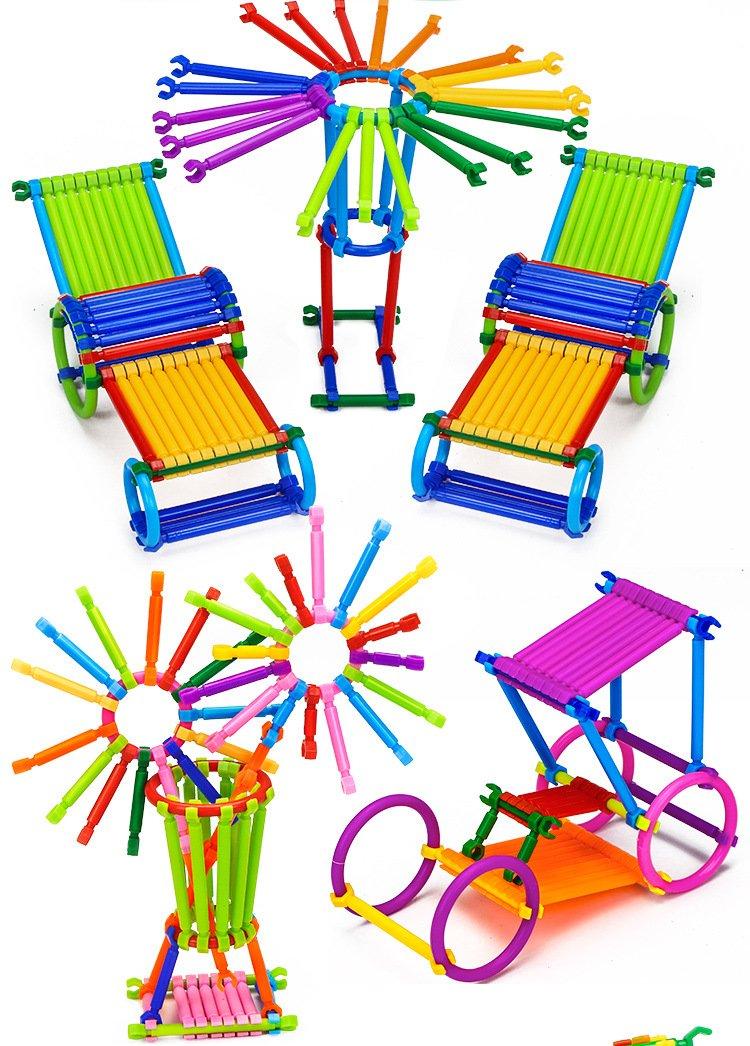 Building ToysFlexible Building Sticks - YiGooood for Kids Educational Activity, DIY Gift Soft Sculpting Sticks Motor Skill Toys Building Blocks with Storage Bag