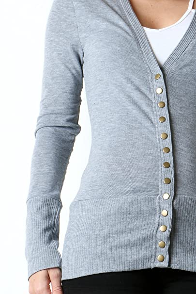 cute replicas price remains stable Apparel Sense AS Snap Button Sweater V-Neck Cardigan