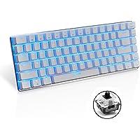 Teclado mecánico AK33 de Lexon tech, teclado para juegos con cable USB con retroiluminación LED azul, teclado compactos…