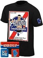 John Cena WWE Founded in 2002 T-shirt Headband Wristbands Boys Juvy