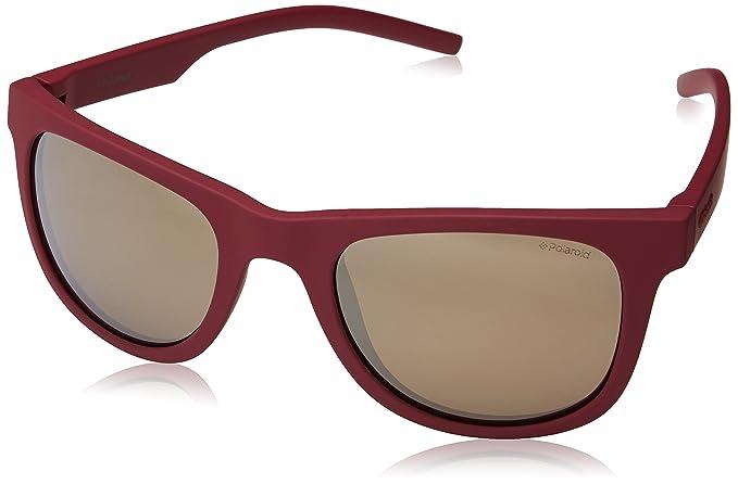 bcf96ceb281 Image Unavailable. Image not available for. Colour  Polaroid Polarized  Square Unisex Sunglasses - (PLD 7020 S ...
