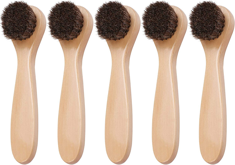 Coolty Pinceles para pulir zapatos Cepillo de Daubers Clean para de Pelo para Bolsos de Cuero