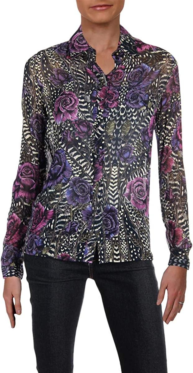 Just Cavalli Womens Rose Print Shirt