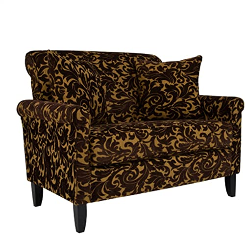 angelo:HOME Harlow Loveseat Java Brown Velvet