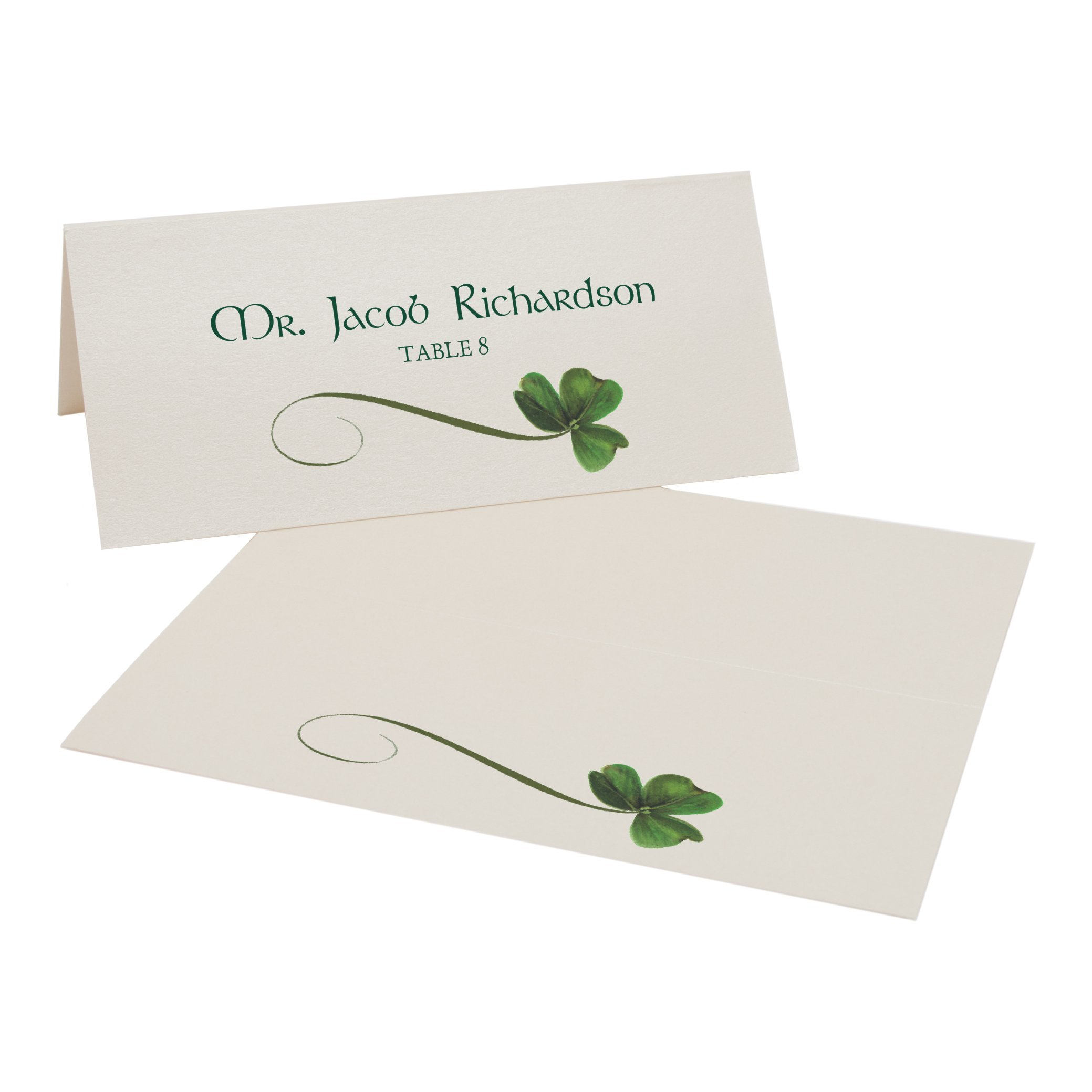 Shamrock Place Cards, Champagne, Set of 375 by Documents and Designs