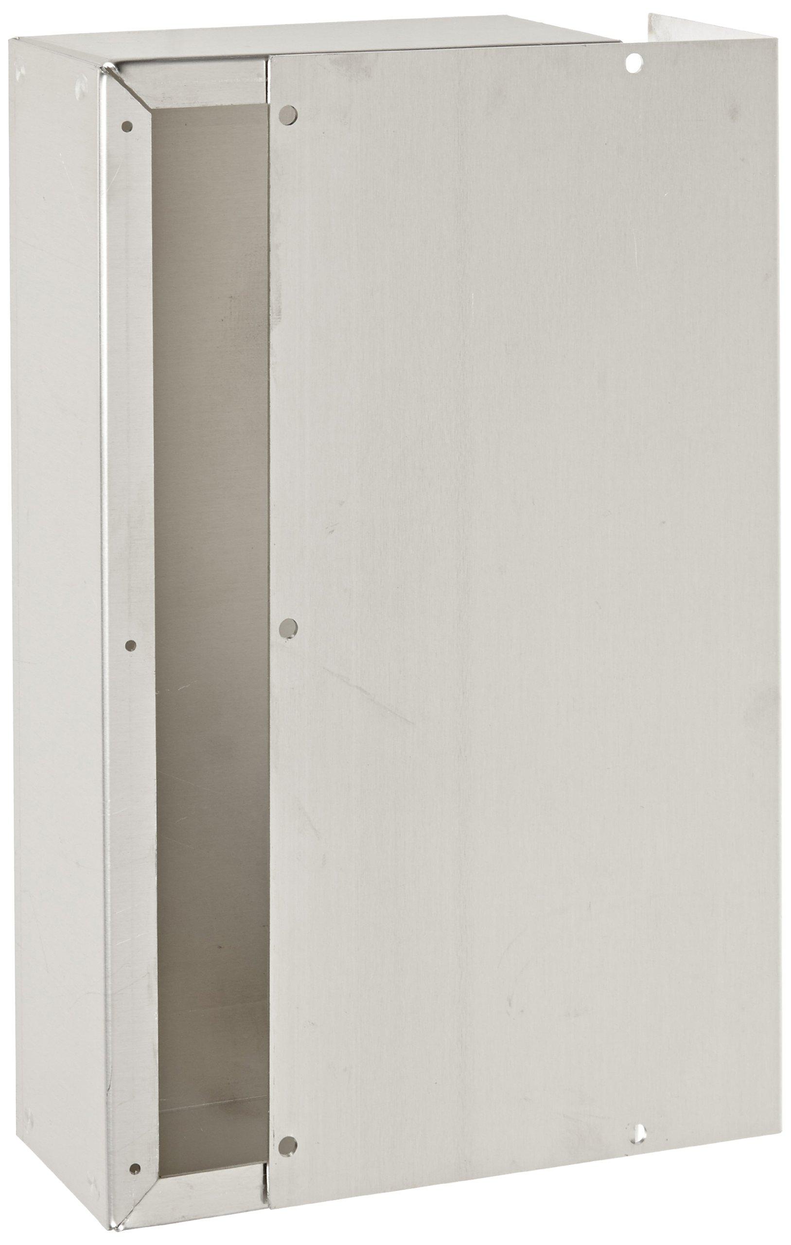 BUD Industries CU-622-A Aluminum Converter Box, 12'' Width x 2-1/2 Height x 6'' Depth, Natural Finish