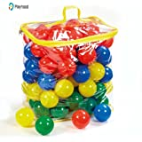PLAYHOOD PVC Fun Big Size Colourful Balls, 8cm (Multicolour) - Set of 100