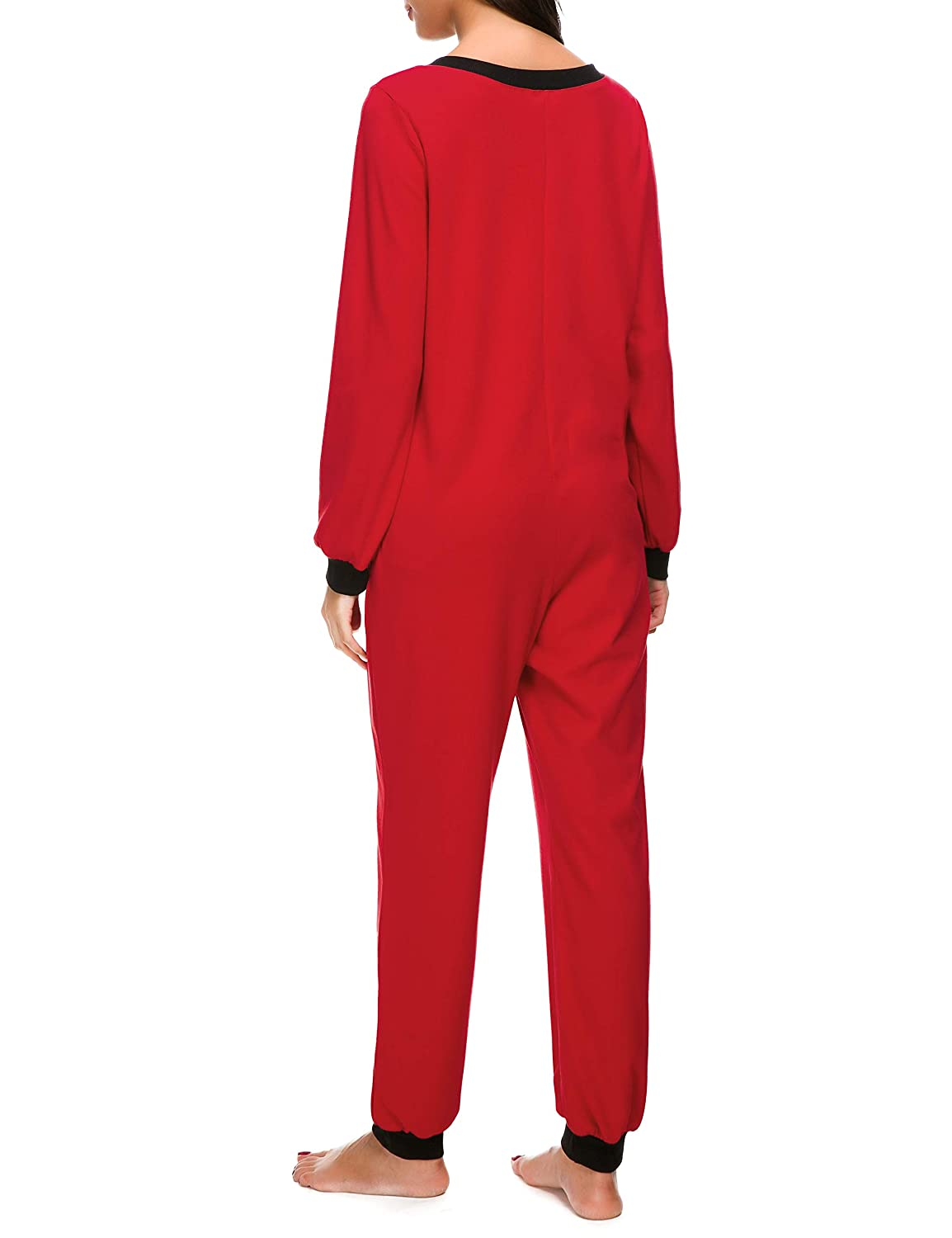 468ff0a30d Amazon.com  M-anxiu Onesie Womens Non Footed Pajamas One Piece Adult  Sleepwear Jumpsuit S-XXL  Clothing